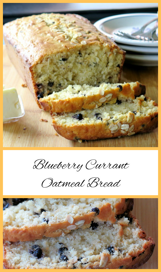 Blueberry Currant Oatmeal Bread collage