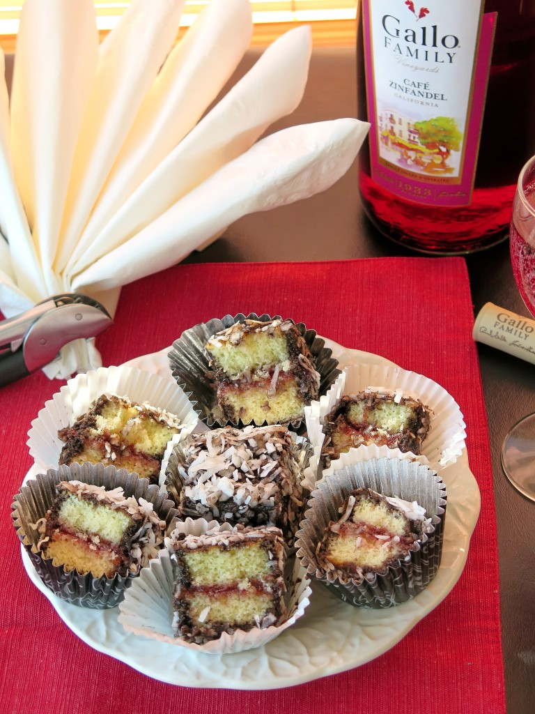 Lamingtons and cafe zinfandel