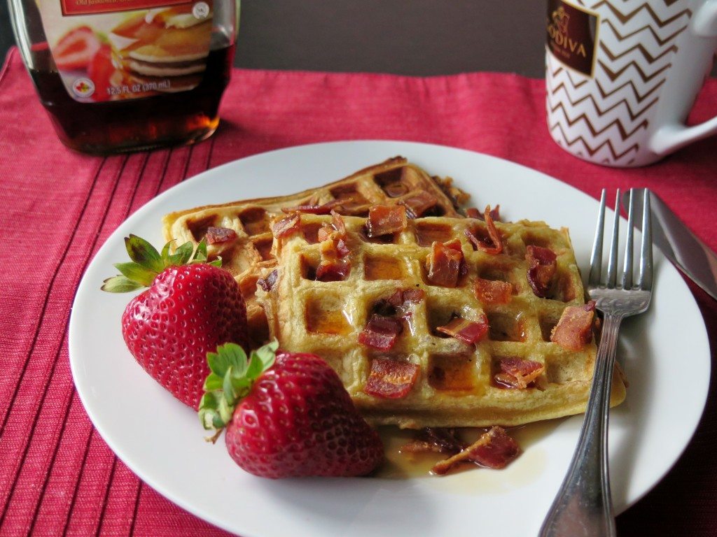 Bacon Honey Waffles