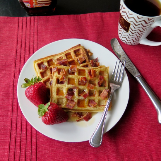 Bacon and Honey Waffles