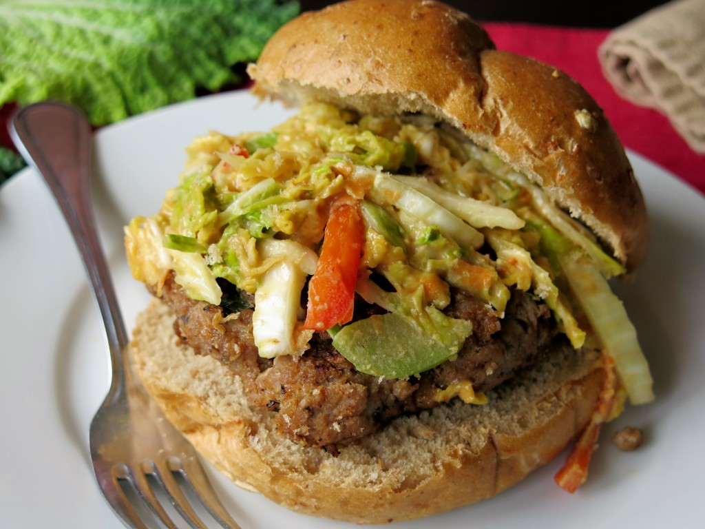 Hoisin Burger with Peanut Slaw