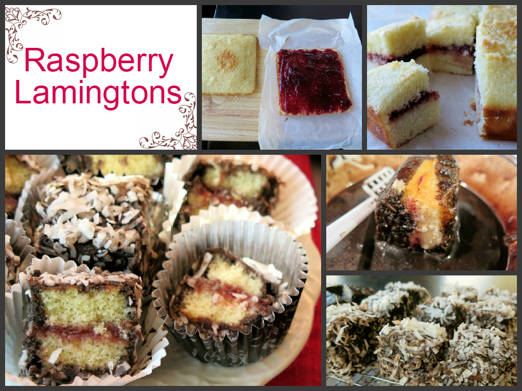 raspberry lamingtons