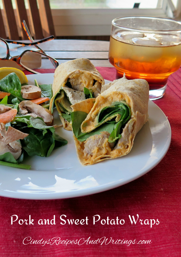 Pork and Sweet Potato Wrap lunch