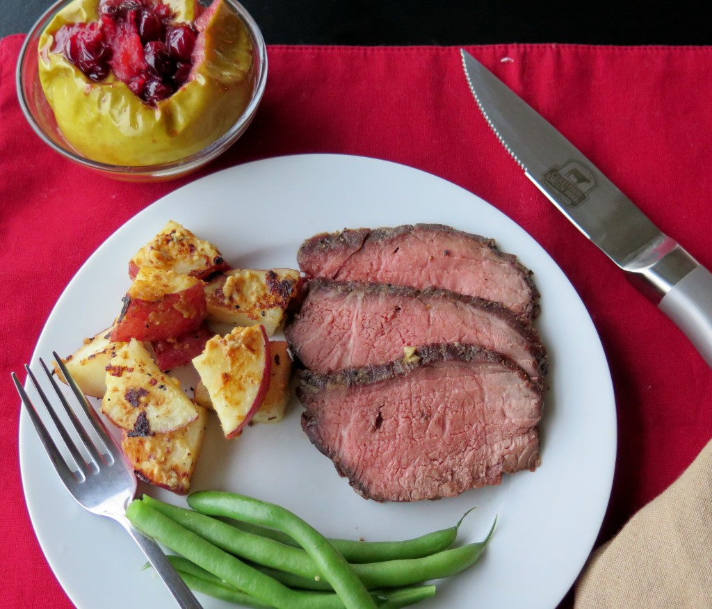Honey Mustard and Garlic Beef Roast Dinner