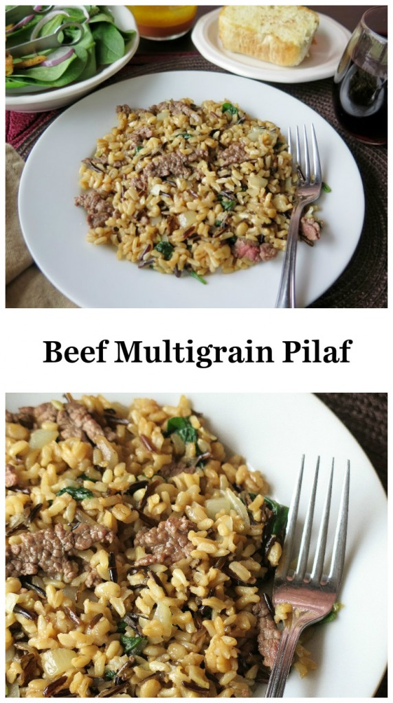 Beef Multigrain Pilaf collage