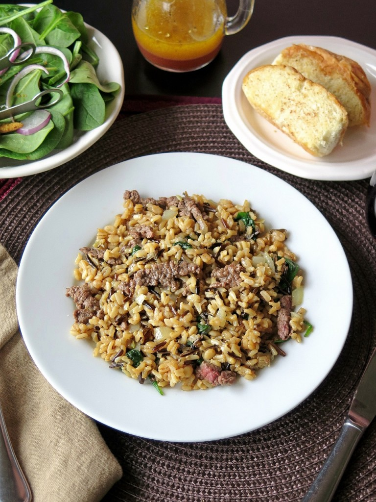 Beef Multigrain Pilaf dinner