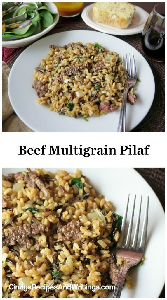 Beef Pilaf collage