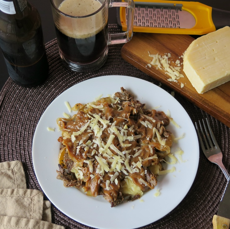 beefy beer poutine