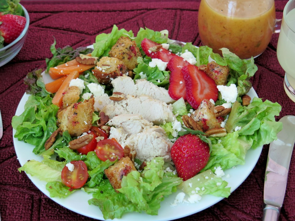 Chef Salad with Strawberry Croutons