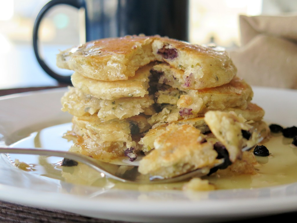 Fruity Hemp Seed Pancakes stack