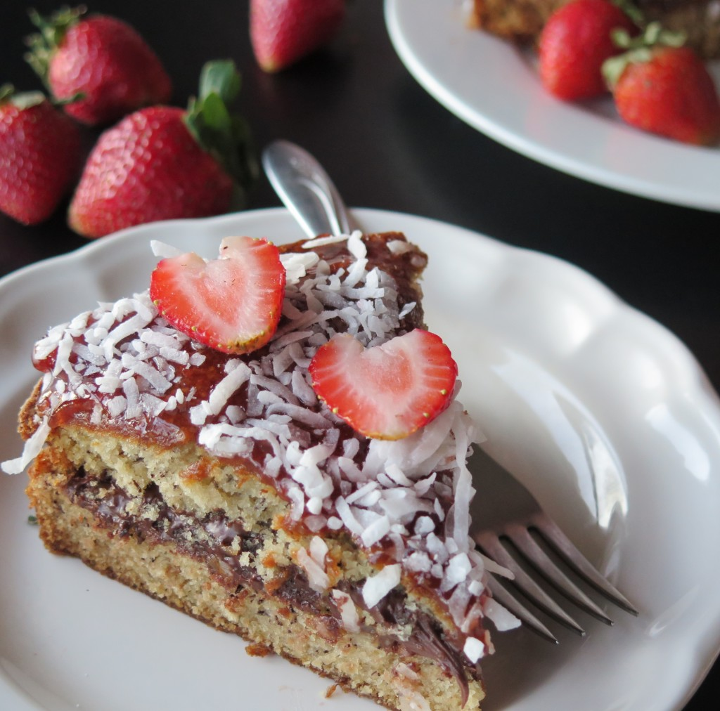Strawberry Chocolate Banana Cake