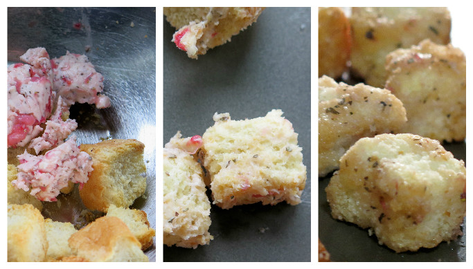 croutons strawberry