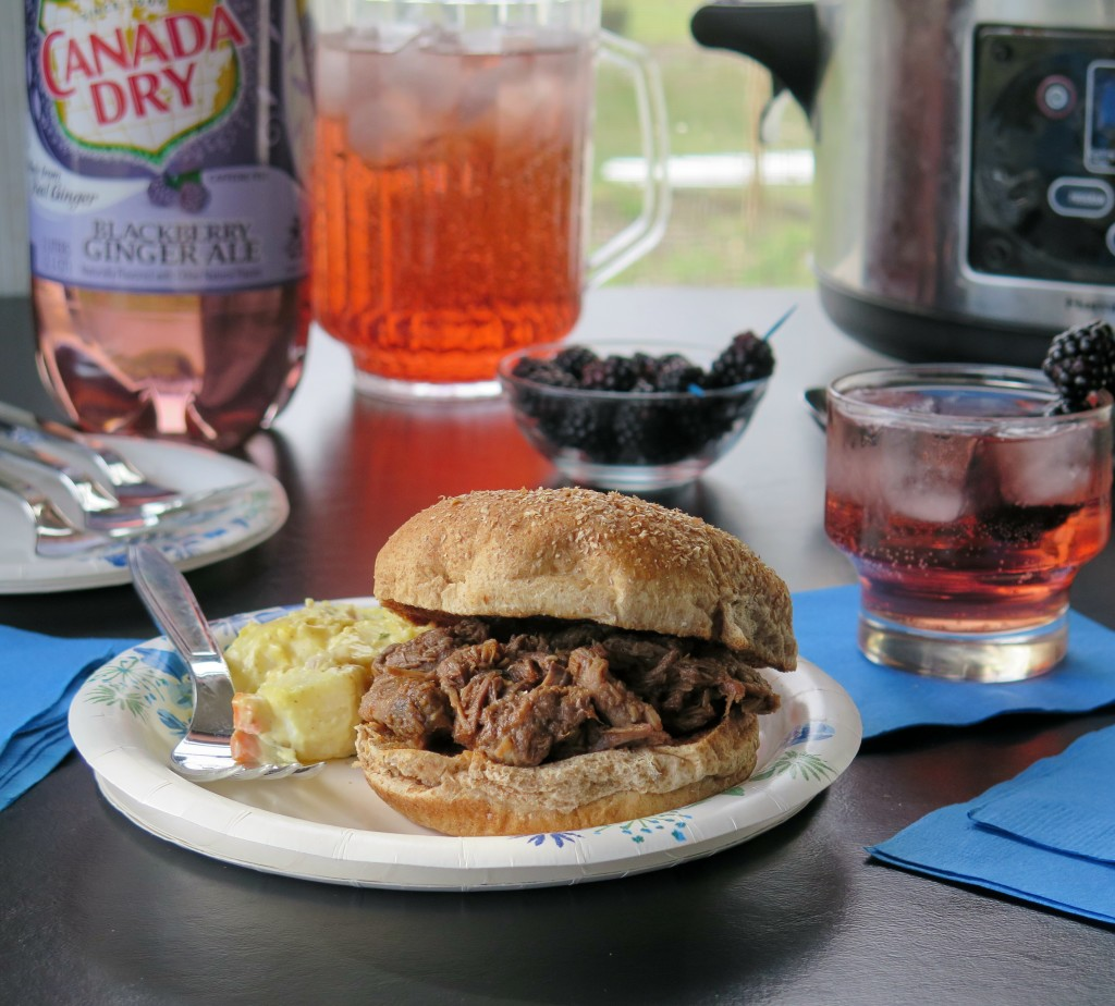 Canada Dry® Blackberry Ginger Ale BBQ set