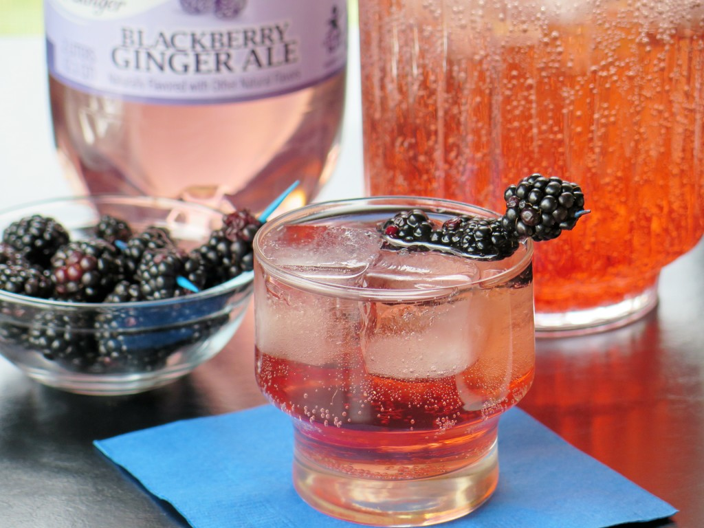 Canada Dry® Blackberry Ginger Ale Blackberry Ginger Sipper w bottle