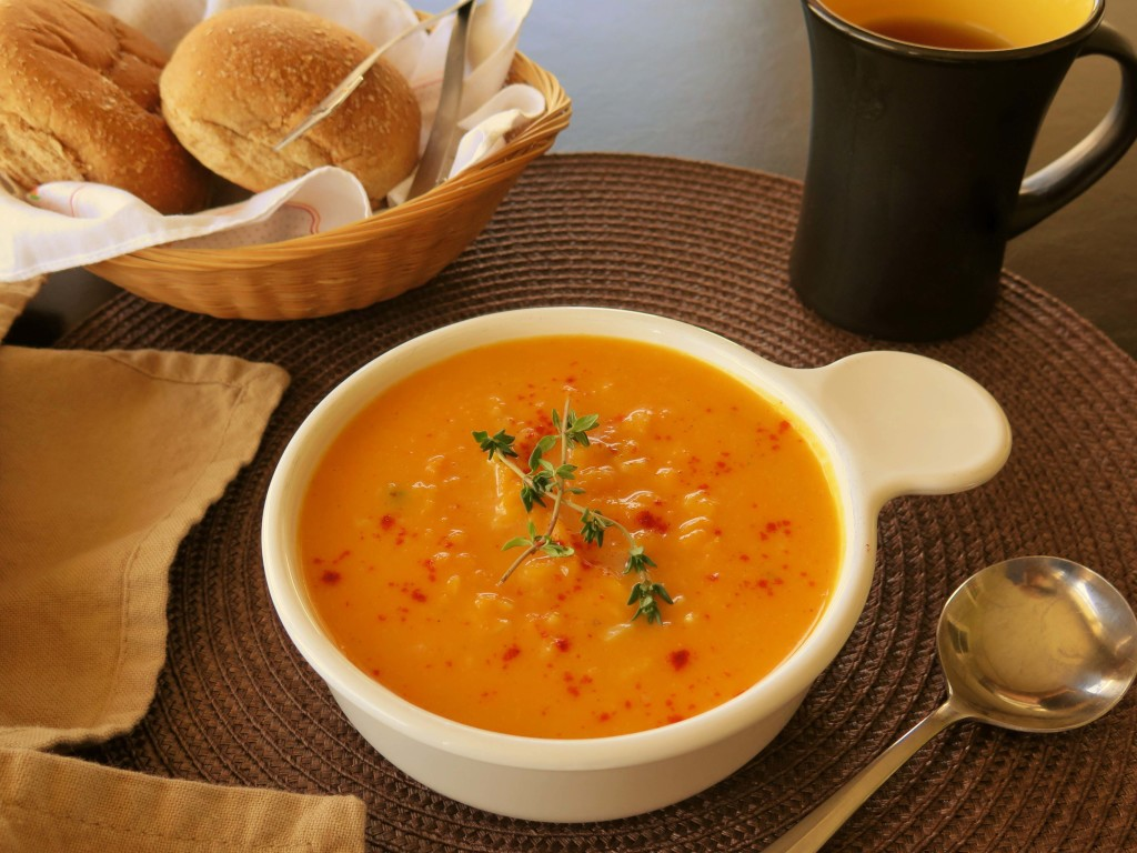 Butternut and Brown Rice Soup