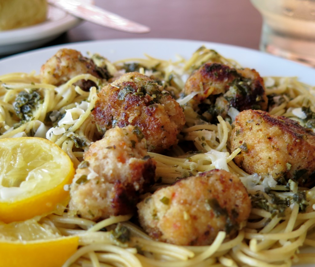Garlicky Shrimp Meatball