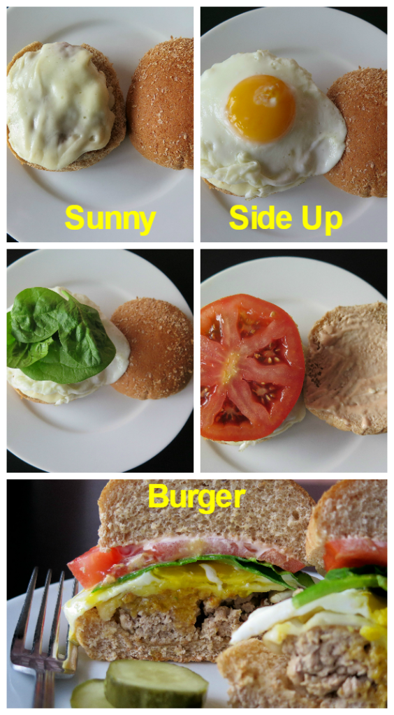 Sunny Side Up Burger collage