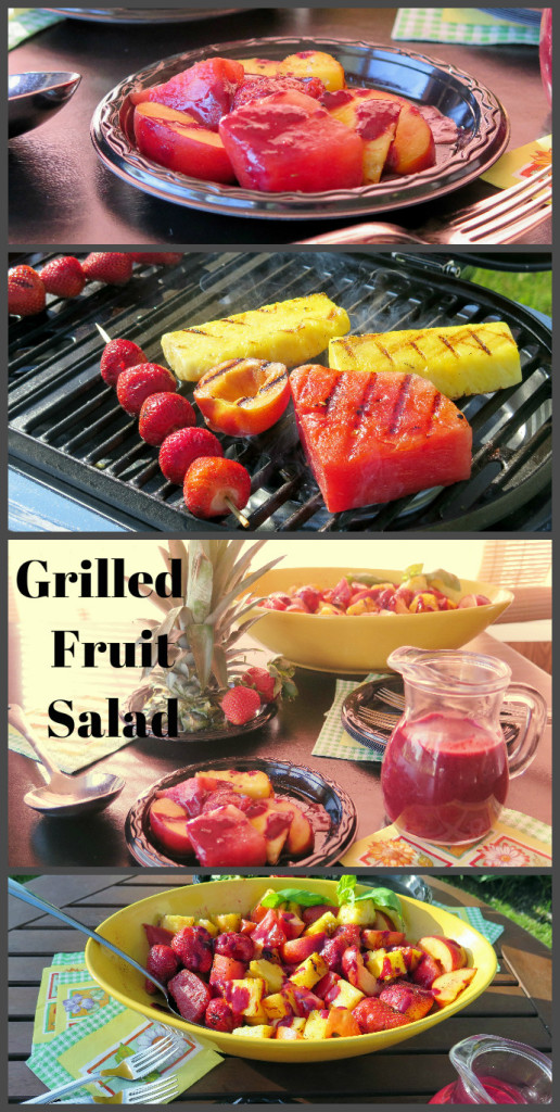 Grilled Fruit Salad #SoFabFood #FromTheGrill #sponsored