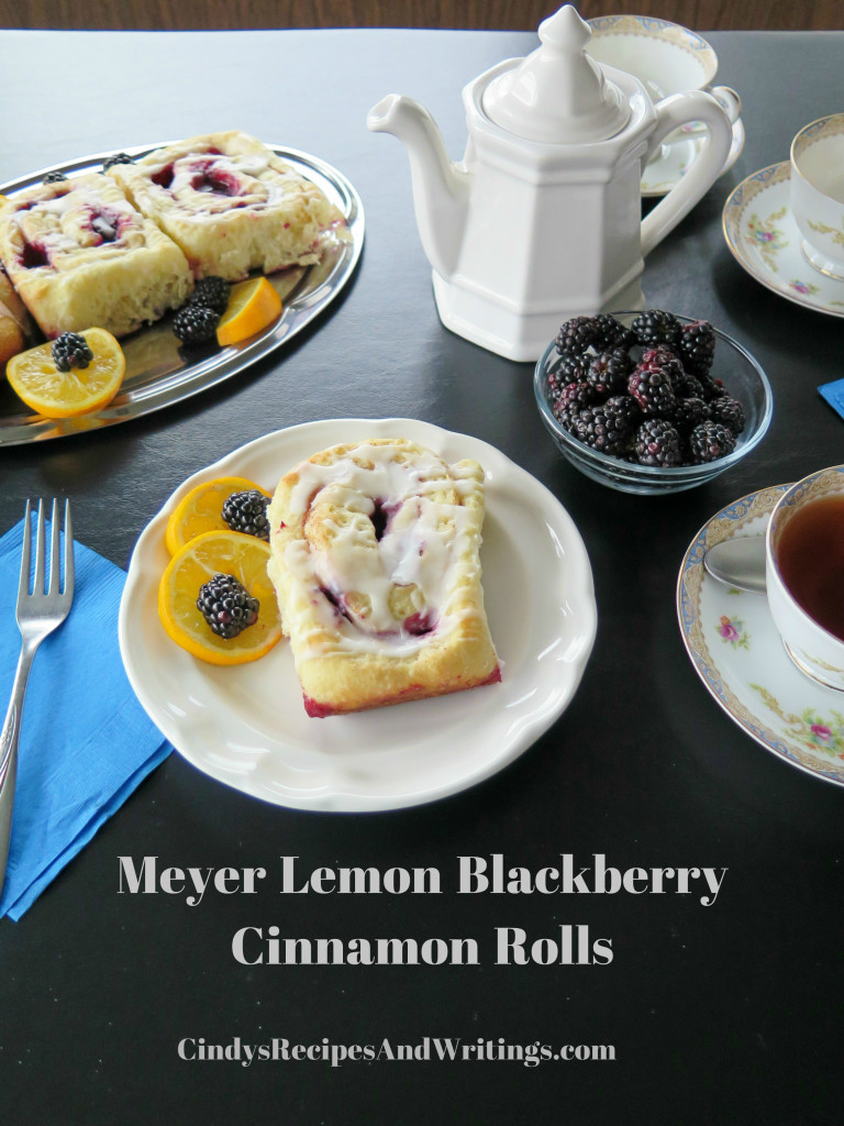 Meyer Lemon Blackberry Cinnamon Rolls table 1