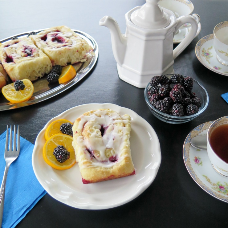 Meyer Lemon Blackberry Cinnamon Rolls table (740x740)