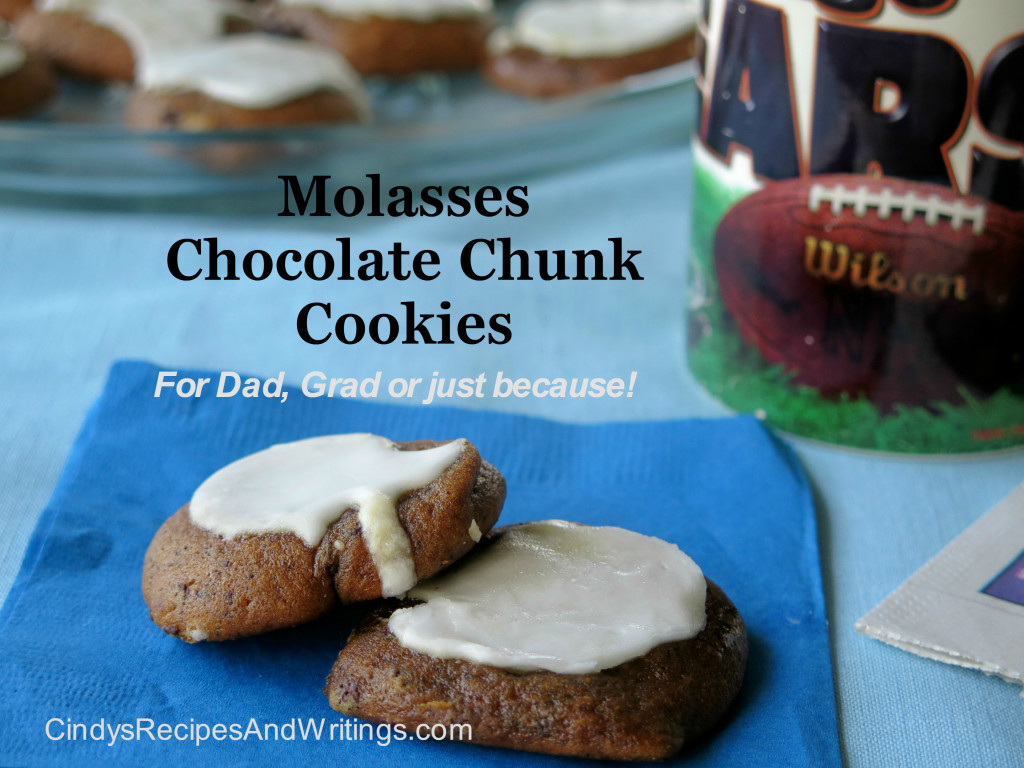 Molasses Chocolate Chunk Cookies #FillTheCookieJar - Cindy's Recipes ...