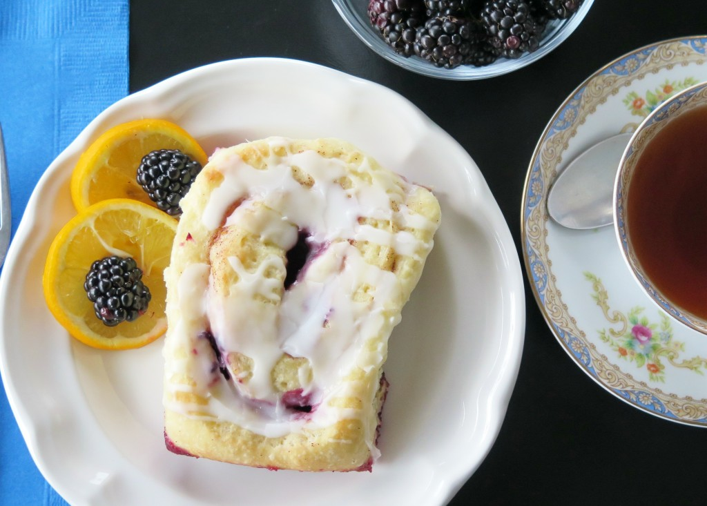 Meyer Lemon Blackberry Cinnamon Roll