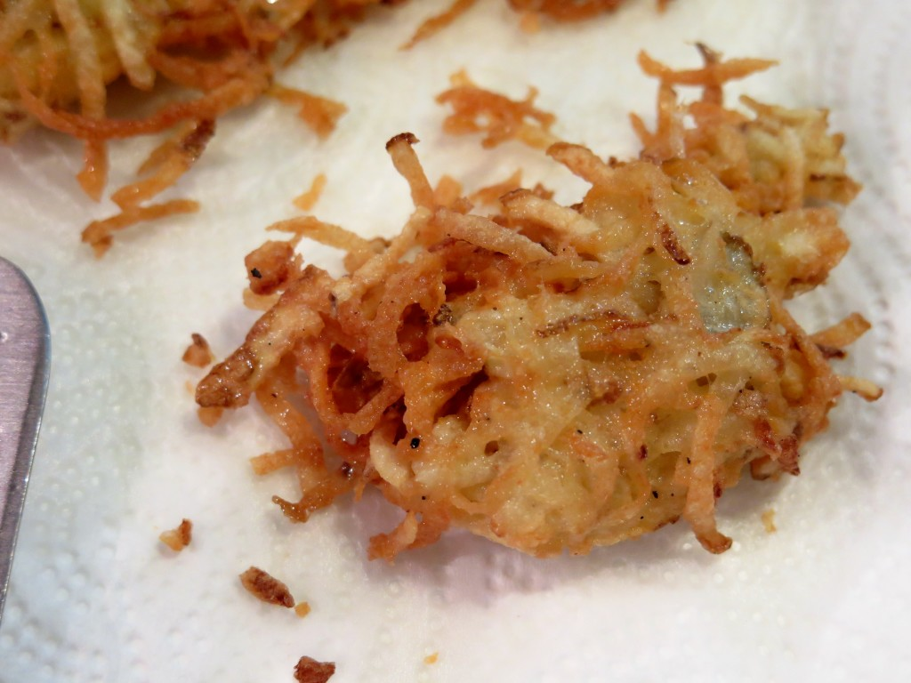 cheesy hash browns drain