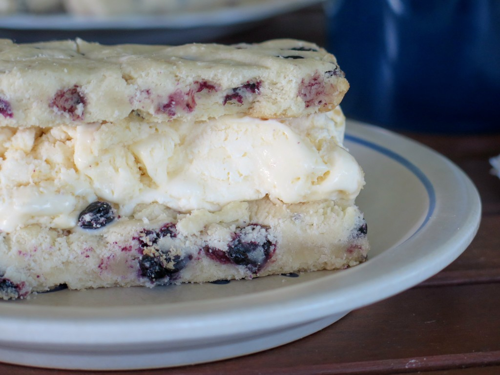 Blueberry Ice Cream Cookie Bar