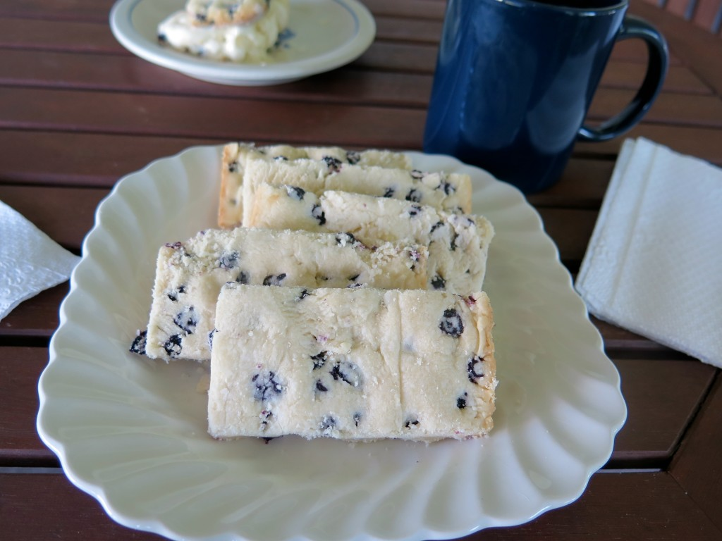 Blueberry Ice Cream Cookie Bar cookies