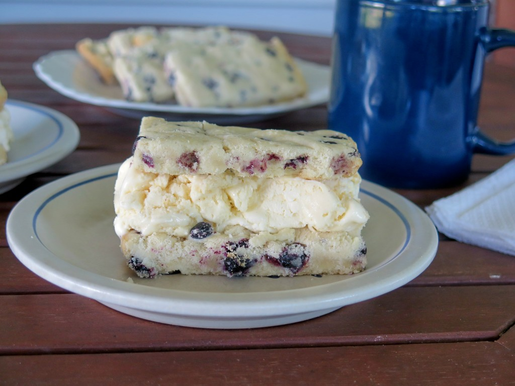 blueberry Ice Cream Cookie Bars
