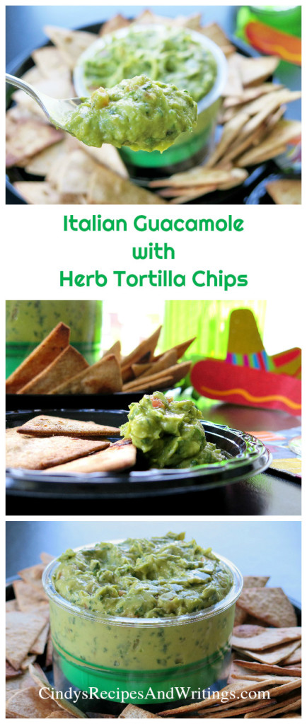 Italian Guacamole with Herb Tortilla Chips #GuacSquad12