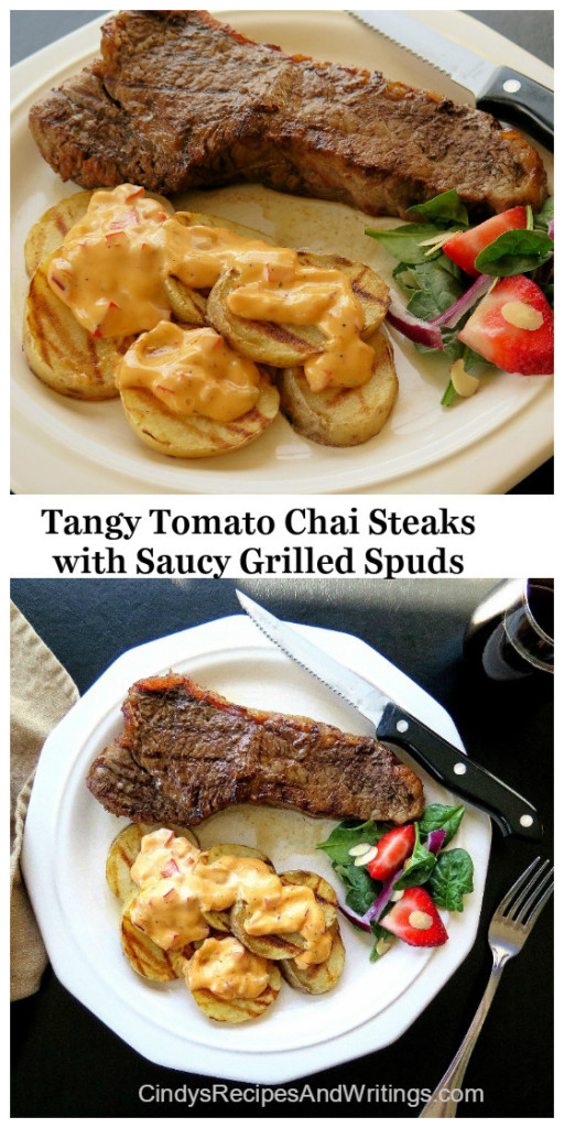 Tangy Steaks and Saucy Potatoes