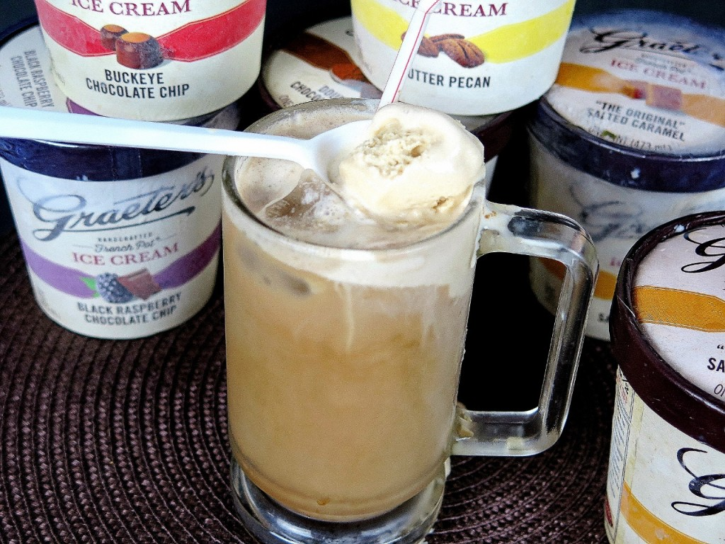 Salted Caramel Coffee Float