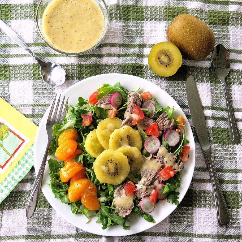 Sungold Kiwifruit and Steak Salad