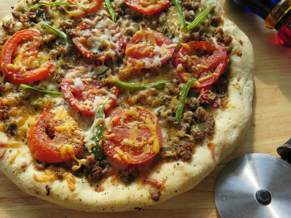 Sausage and Peppers Pizza