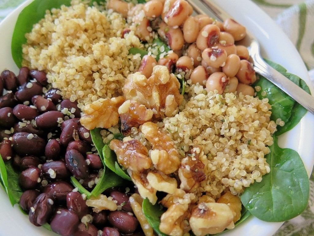 Spinach Beans Walnuts Power Bowl