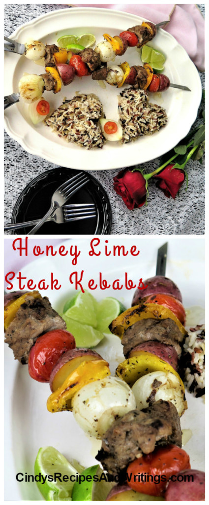 Honey Lime Steak Kebabs