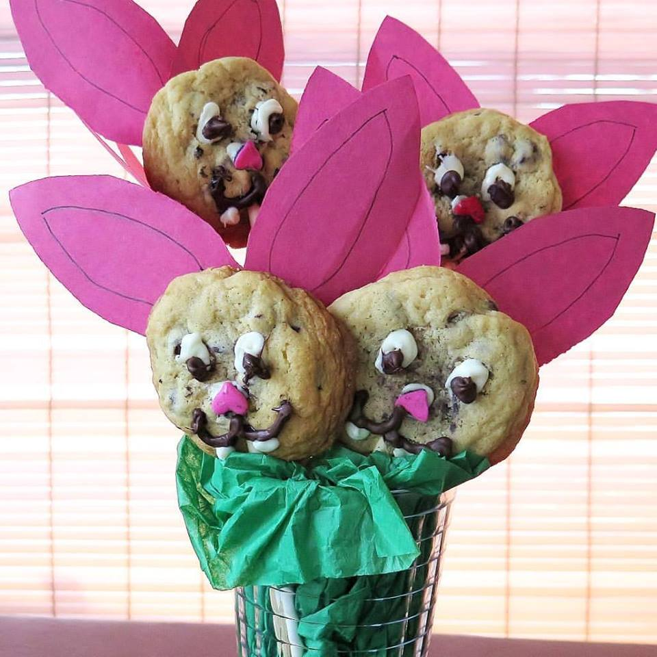 Chocolate Chip Cookie Bunny Pops