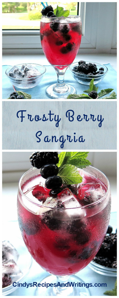 Frosty Berry Sangria #BerryDelish #FWCON
