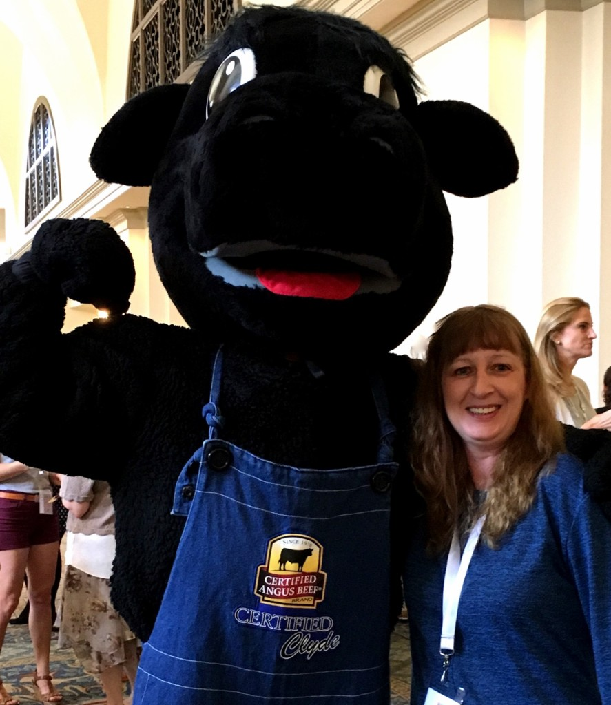 Me and Certified Angus Mascot