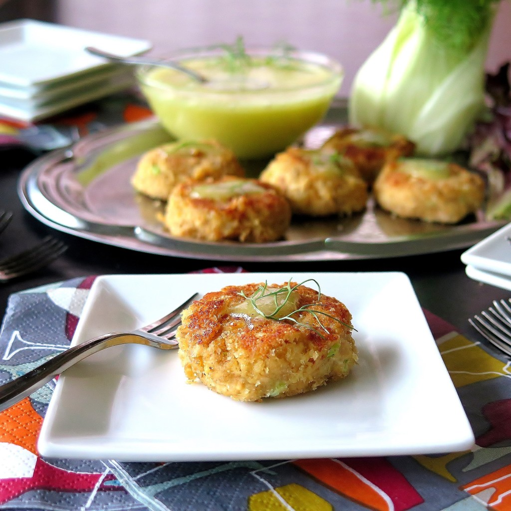 Mini Salmon Cakes with Anise Aioli