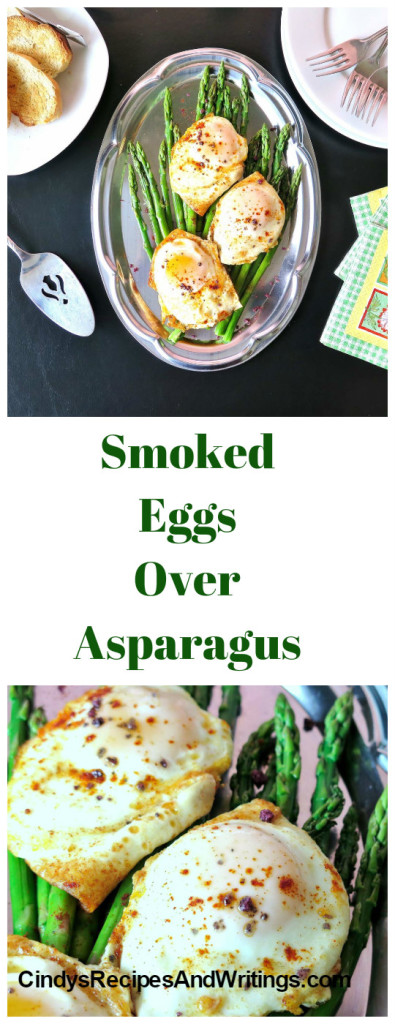 Smoked Eggs Over Asparagus #BrunchWeek