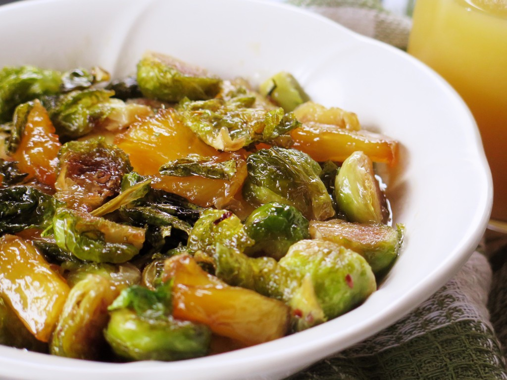 Pineapple Glazed Brussels Sprouts