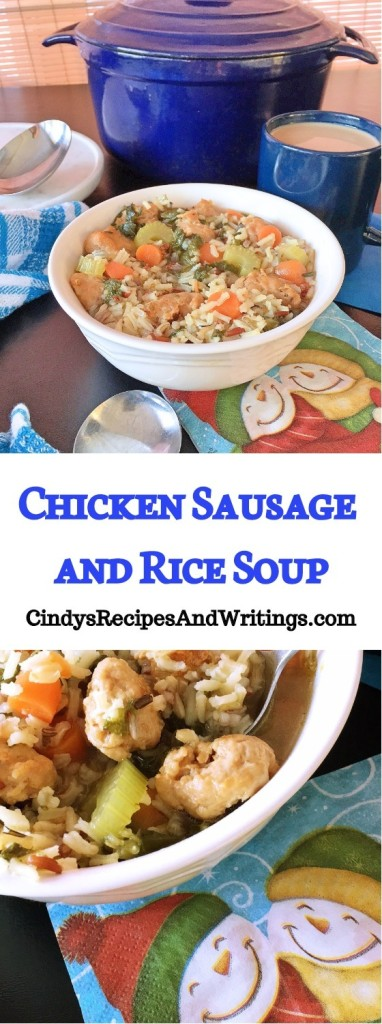 Chicken Sausage and Rice Soup