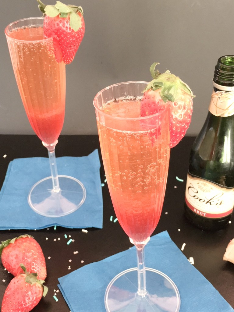 Strawberry Ginger Champagne Cocktail