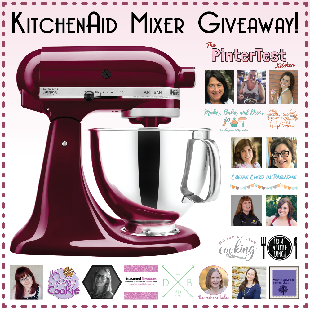 KitchenAid Mixer Giveaway! - Cindy\'s Recipes and Writings